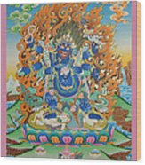 Mahankal Thangka Art Wood Print