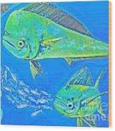 Mahi Trio Wood Print
