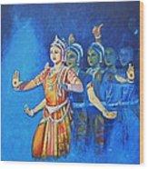 Mahishaasura Mardini Wood Print