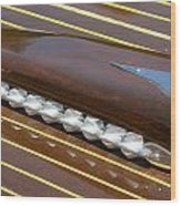 Mahogany Runabout  Wood Print by Steven Lapkin
