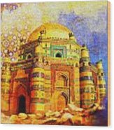 Mai Jwandi Tomb On Makli Hill Wood Print by Catf