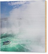 Maid Of The Mist Boat Tours Taking Wood Print