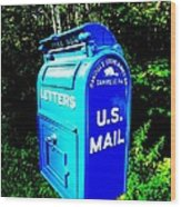Mail Box Wood Print by Will Boutin Photos