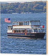 Mail Delivery Boat Lake Geneva Wisconsin Wood Print