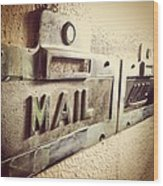 Mail Lost In Time Wood Print
