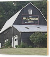 Mail Pouch Barn And Two Foxes Wood Print