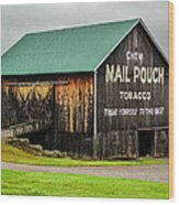 Mail Pouch Tobacco Barn Wood Print