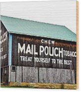 Mail Pouch Tobacco Barn II Wood Print