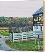 Mail Pouch Tobacco Barn In The Fall Wood Print