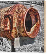 Mailbox With Character Wood Print
