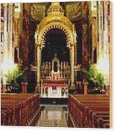 Main Altar Of Basilica Wood Print