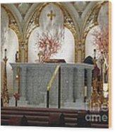 Main Altar Saint Jospehs Cathedral Buffalo New York Wood Print