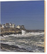 Main Coastline Wood Print