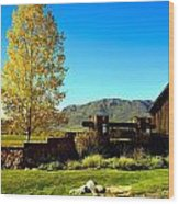 main gate to Marabou ranch Wood Print