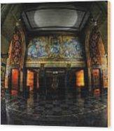 Main Lobby Of City Hall Buffalo Ny Rear Wood Print