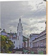 Main Square In Quito Ecuador Wood Print