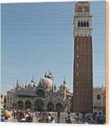 Main Square In Venice Wood Print