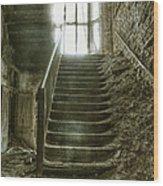 Main Staircase Wood Print