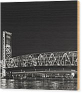 Main Street Bridge Jacksonville Florida Wood Print by Christine Till
