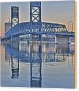 Main Street Bridge Jacksonville Florida Wood Print