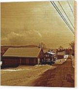 Main Street In Mountain Village Wood Print