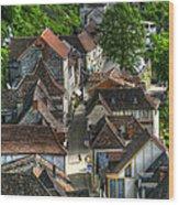 Main Street Rocamadour Wood Print