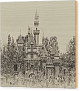 Main Street Sleeping Beauty Castle Disneyland Heirloom 01 Wood Print