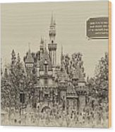 Main Street Sleeping Beauty Castle Disneyland Heirloom 03 Wood Print