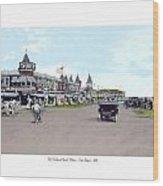 Maine - Old Orchard Beach Train Depot - 1910 Wood Print