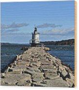 maine 43 Portland Lighthouse Wood Print