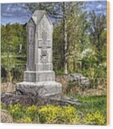 Maine At Gettysburg - 5th Maine Volunteer Infantry Regiment Just North Of Little Round Top Wood Print by Michael Mazaika