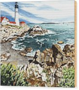 Maine Attraction Wood Print