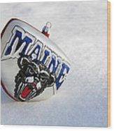 Maine Black Bears Ornament Wood Print