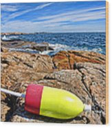 Maine Coast Wood Print by Olivier Le Queinec