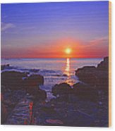 Maine Coast Sunrise Wood Print