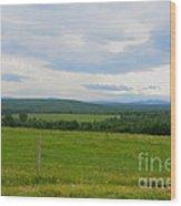 Maine Farmland Wood Print