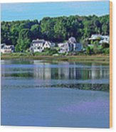 Maine Lakefront Wood Print