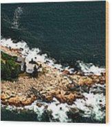 Maine Lighthouse Wood Print