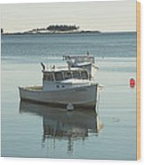 Maine Lobster Boats In Winter Wood Print