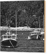 Maine Lobster Boats Wood Print