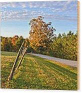 Maine Morning Wood Print