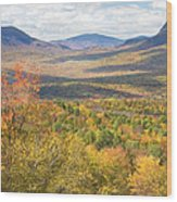 Maine Mountains In Fall Mount Blue State Park  Wood Print