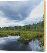 Maine Pond Wood Print