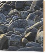 Maine Rocks 1 Wood Print