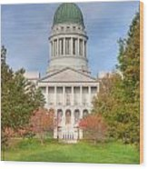 Maine State House I Wood Print