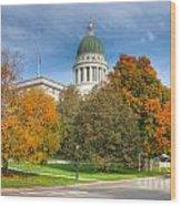 Maine State House Vii Wood Print