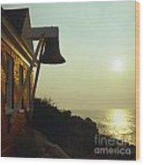 Maine Sunrise Wood Print