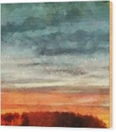 Maine Sunset Wood Print