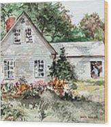 Maine Sunshine Wood Print