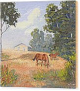 Mainely Grazing Wood Print